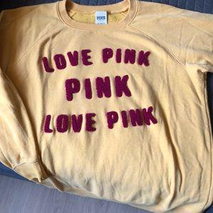 Oversized Pink crew neck sweatshirt